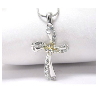jewels cross crystal beautiful necklace cross necklace jewelry accessories