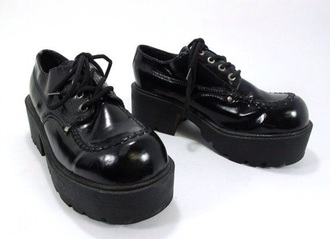 shoes creeper dress shoe shiny platform