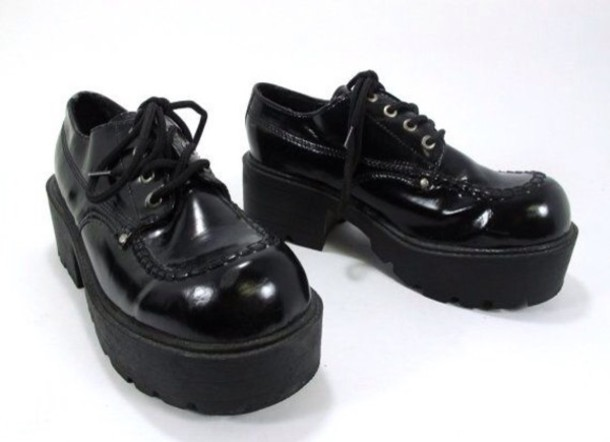 shoes creeper dress shoe shiny platform shoes
