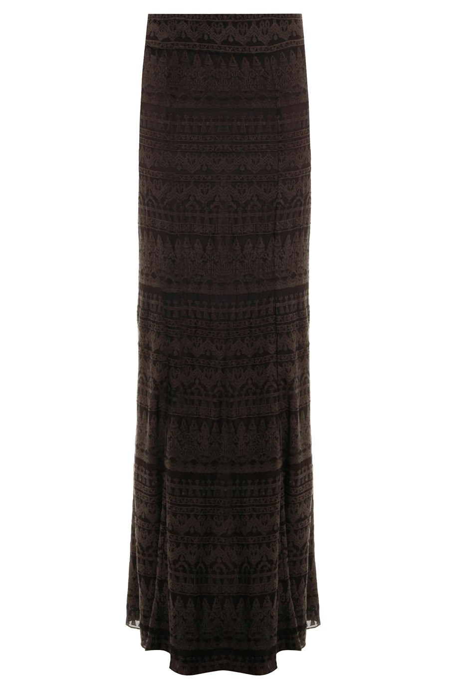 Boutique 1 - ISABEL MARANT - Black Tory Embrd Gauze Maxi Skirt | Boutique1.com