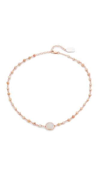opal necklace choker necklace pink jewels