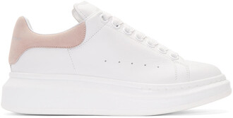 oversized sneakers white pink shoes