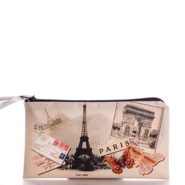 bag paris letters butterfly ziziztime cosmetic bag cosmetic case vintage eiffel tower