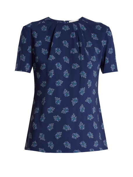 Altuzarra top floral print blue