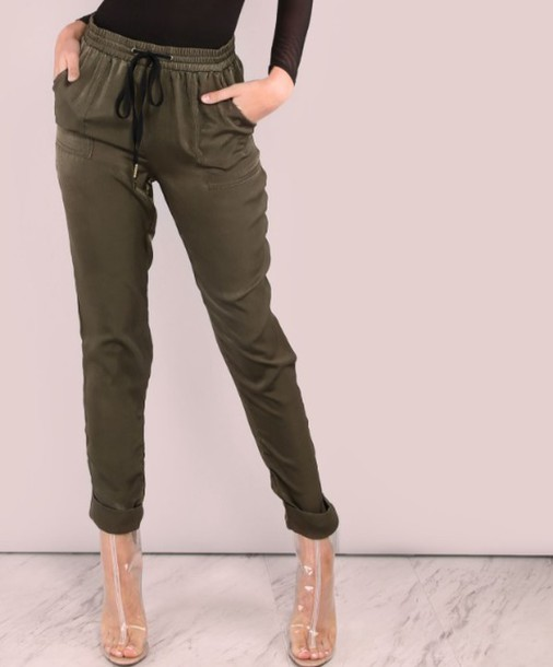 finest selection 56f21 e0241 pants girl girly girly wishlist olive green khaki joggers joggers pants  sweatpants