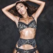 underwear,leopard print,bra,animal print,grey,clothes,black,top,sexy,fashion,lingerie,sexy lingerie,bralette,suspenders,panties,women,model,instagram,outfit,date outfit,swimwear,grey top,summer