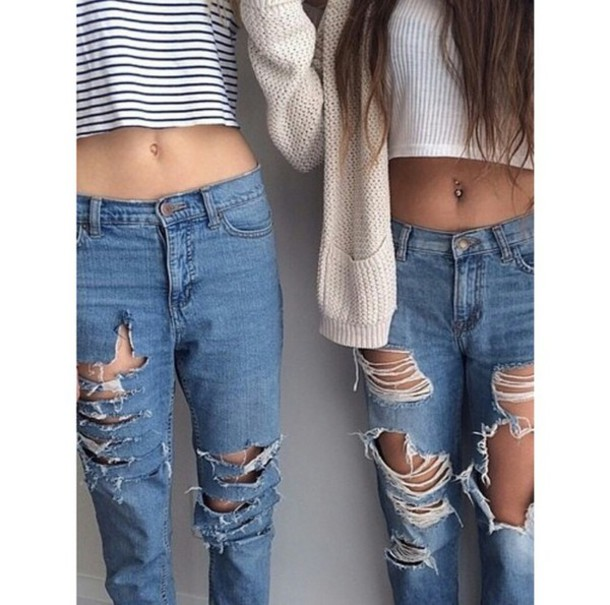 Jeans boyfriend jeans skinny indie cardigan ripped jeans casual chic classy blue skinny ...