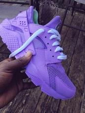 shoes,huarache,purple,nike,custom huarache,custom shoes,nike air huaraches