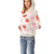 Straight Notch Lapel Print Fashion Common Sweatshirt  : KissChic.com
