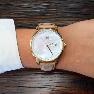 jewels watch gold pearl