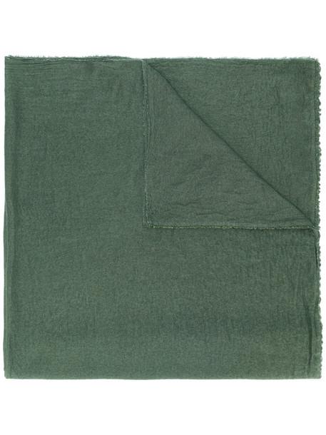 faliero sarti women scarf silk wool green