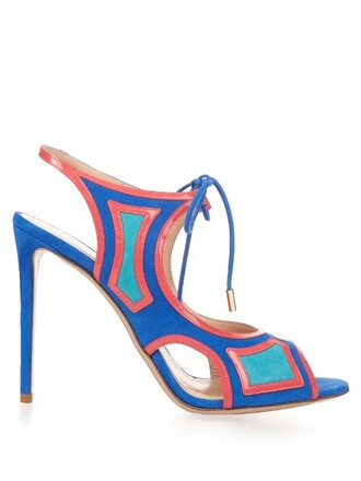 sandals leather sandals leather suede blue shoes
