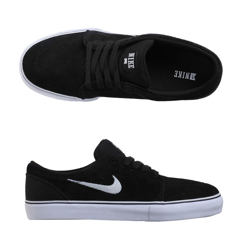nike skateboarding satire suede trainers black&white background