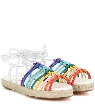 shoes rope shoes multicolor white sandals flat sandals
