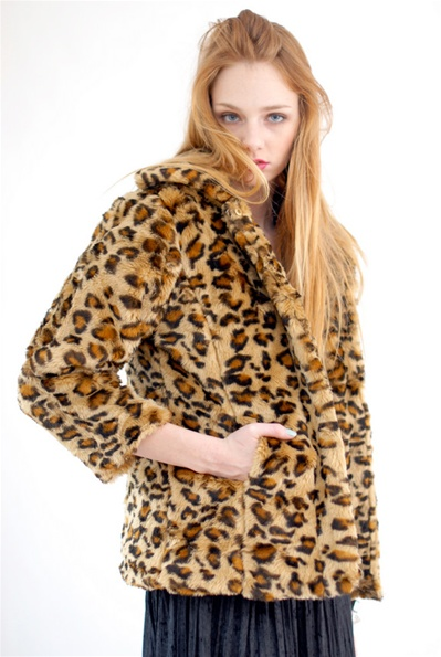 Coury leopard fur jacket<br /> $118