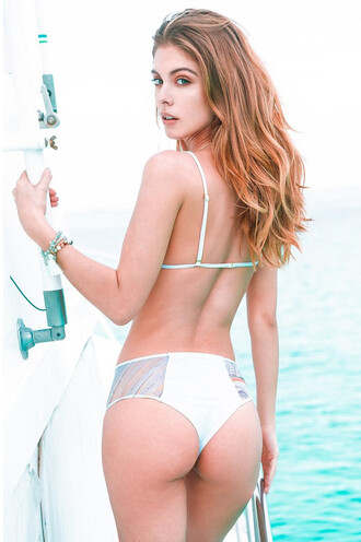 swimwear bikini bottoms high waisted revel rey white bikiniluxe