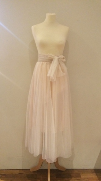 skirt tulle skirt carrie bradshaw cream pink blush