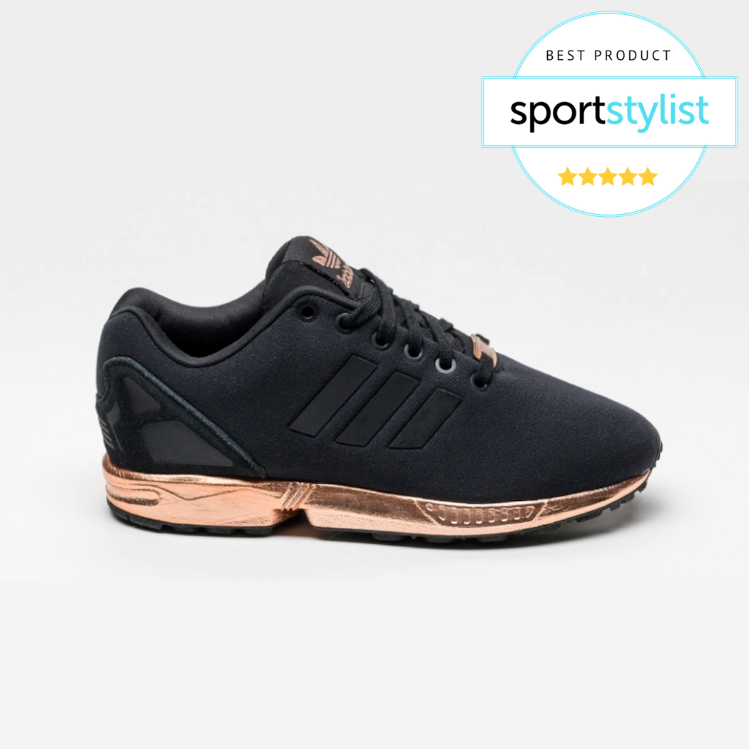 adidas zx flux trainers gold