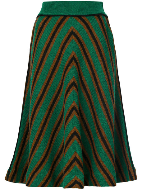 skirt women wool green