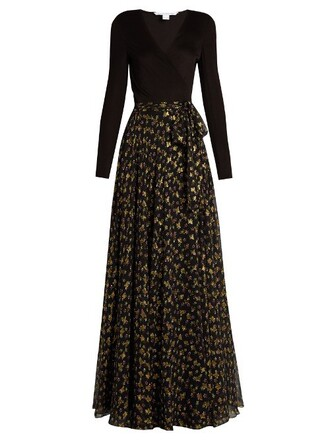 gown gold black dress
