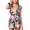 """Chic """"floral royalty"""" flowers print romper – glamzelle"""