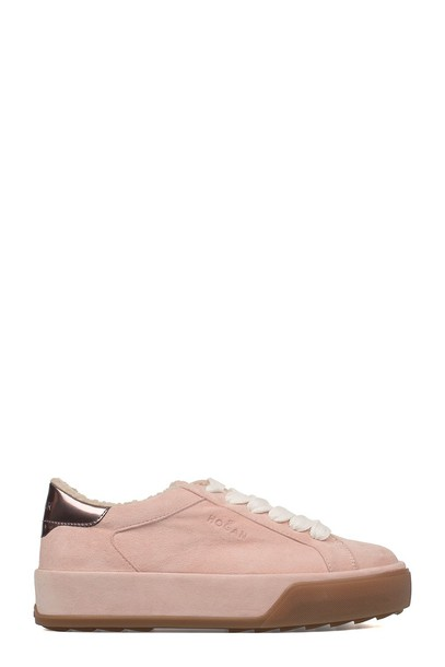 Hogan suede sneakers sneakers suede pink shoes