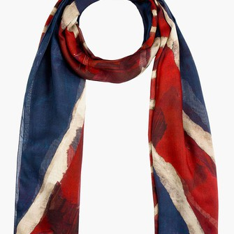 red scarf menswear navy god save mcqueen scarf red