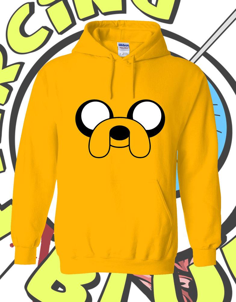 Jake Dog Adventure Time Hoodie Yellow Adult Mens Ladies Hooded Inspired Hoody