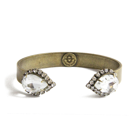 SMALL SARRA CUFF IN CRYSTAL - Loren Hope