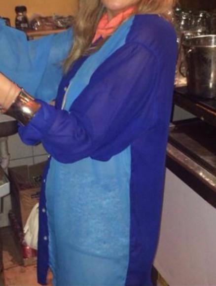 women contrast collar orange dark blue vintage