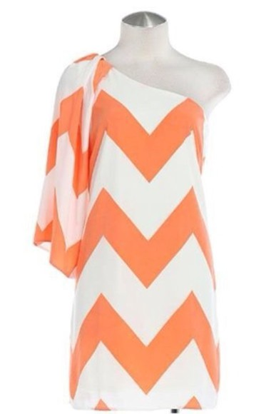 dress orange dress chevron chevron print chevron dress spring trends 2014 clothing women's clothing boutique
