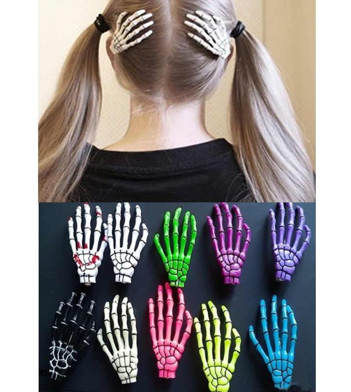 2 PC Popular New Fashion Skeleton Hand Bone Hair Clip Hot Sale Hairpin Hair Pin | eBay