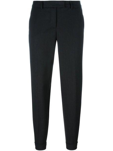 Alberto Biani women spandex black wool pants