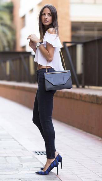 bag purse style fashion blouse jeans sweatpants leggings pants high heels