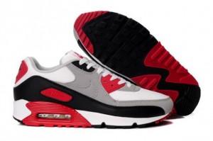 Shop Nike Air Max 90 Men's Running Shoe White/Grey-Varsity Red UK Online Shop