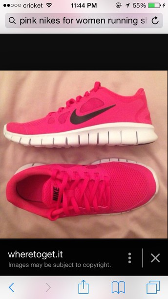 shoes hot pink nikes
