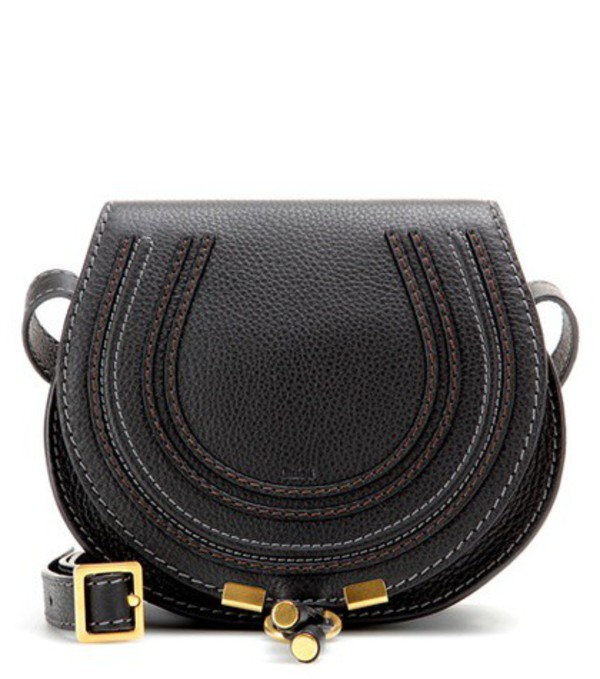 Chloé Marcie Small leather shoulder bag in black