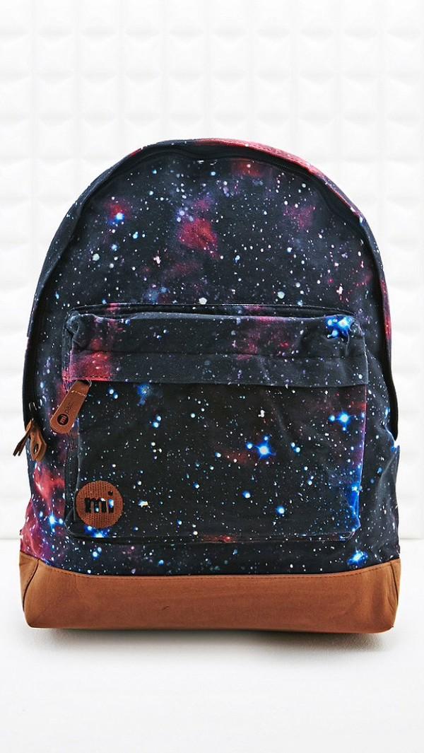 bag blue space backpack