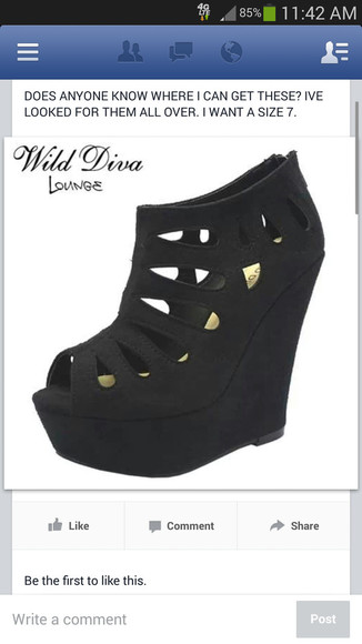 shoes wedges black black suede high heels
