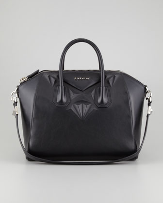 Givenchy Antigona 3D Stud Medium Satchel Bag, Black - Bergdorf Goodman