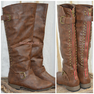 Red Zipper Boots - Shop for Red Zipper Boots on Wheretoget