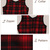 British Style Round-neck Plaid Dress [FXBI00544] - PersunMall.com