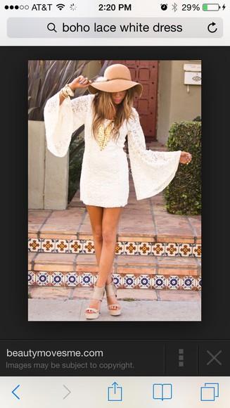 ivory dress white lace boho dress