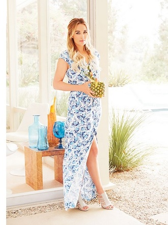 floral maxi dress maxi dress dress lauren conrad sandals heel sandals shoes