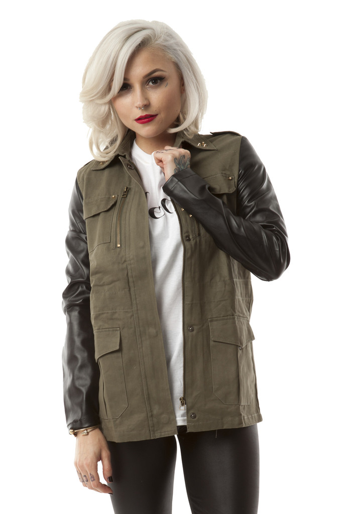 Oliver Leather Sleeve Jacket – Wunderlust