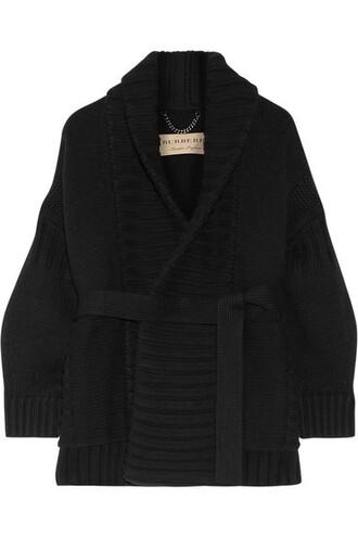 cardigan black wool sweater