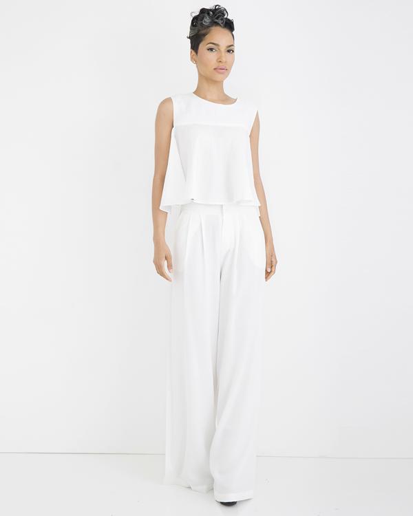 White Linen Pants Suit - Jon Jean