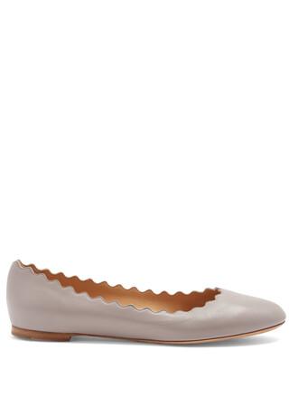 ballet flats ballet flats leather grey shoes