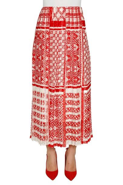 Fendi skirt long skirt pleated long