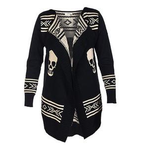 black white aztec sweater skull sweater